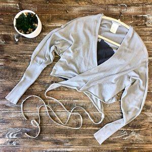 Sarah Pacini Wrap & Tie Knit Cardigan